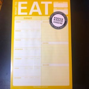 What to Eat Meal Planner Note Pad